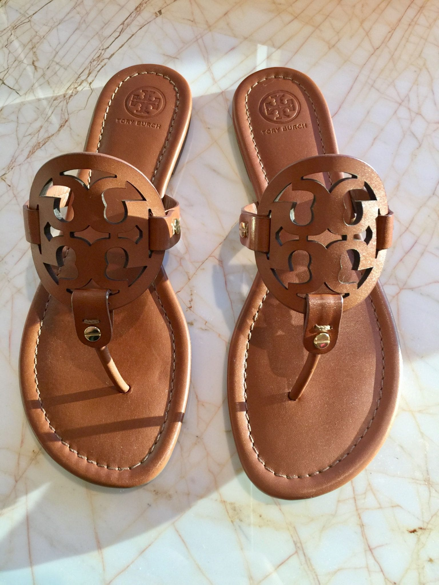 my new tory burch miller sandals vintage vachetta leather. Black Bedroom Furniture Sets. Home Design Ideas